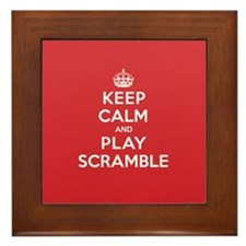Keep Calm Play Scramble Framed Tile