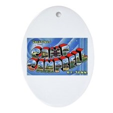 Camp Campbell KY TN Oval Ornament