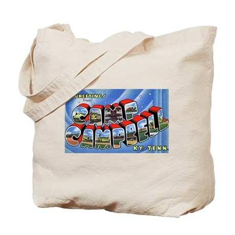 Camp Campbell KY TN Tote Bag