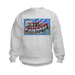 Camp Campbell KY TN (Front) Kids Sweatshirt