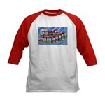 Camp Campbell KY TN (Front) Kids Baseball Jersey