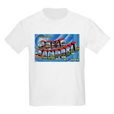Camp Campbell KY TN (Front) Kids T-Shirt