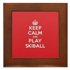 Keep Calm Play Skiball Framed Tile