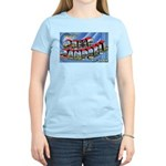 Camp Campbell KY TN (Front) Women's Pink T-Shirt