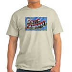 Camp Campbell KY TN (Front) Ash Grey T-Shirt