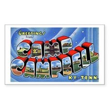 Camp Campbell KY TN Rectangle Decal
