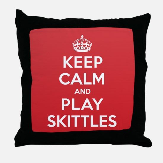 Keep Calm Play Skittles Throw Pillow