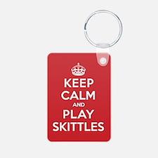 Keep Calm Play Skittles Keychains