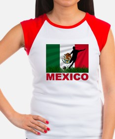 Mexico World Cup Soccer Women's Cap Sleeve T-Shirt