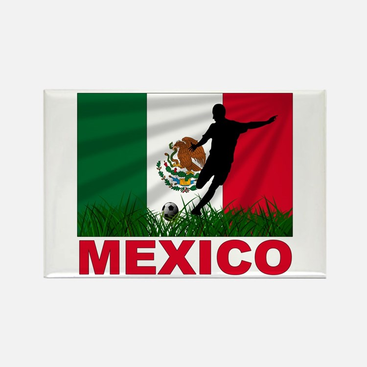Mexico World Cup Soccer Rectangle Magnet