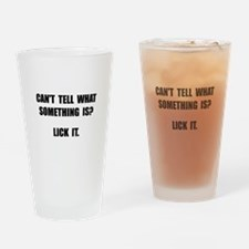 Lick It Drinking Glass