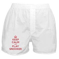 Keep Calm Play Snooker Boxer Shorts