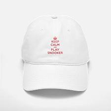 Keep Calm Play Snooker Baseball Baseball Cap