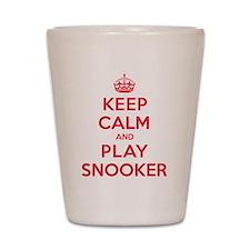 Keep Calm Play Snooker Shot Glass