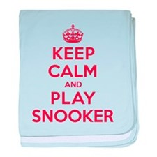 Keep Calm Play Snooker baby blanket