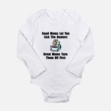 Mom Lick The Beaters Long Sleeve Infant Bodysuit