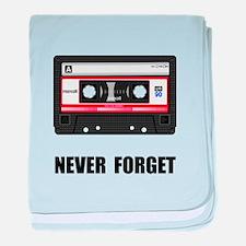 Never Forget Cassette Black.png baby blanket