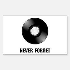 Never Forget Vinyl Black Decal