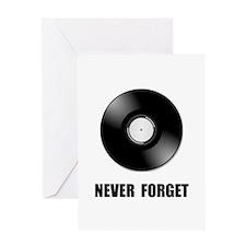 Never Forget Vinyl Black Greeting Card
