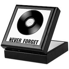 Never Forget Vinyl Black Keepsake Box