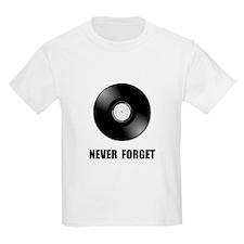 Never Forget Vinyl Black T-Shirt