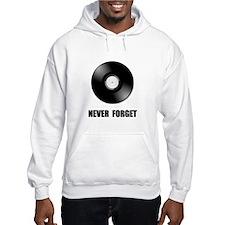 Never Forget Vinyl Black Hoodie