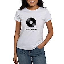 Never Forget Vinyl Black Tee