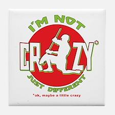 Im Not Crazy (lacrosse) Tile Coaster