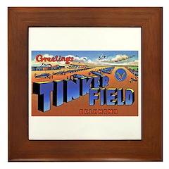 Tinker Field Oklahoma Framed Tile
