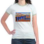 Tinker Field Oklahoma (Front) Jr. Ringer T-Shirt