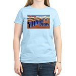 Tinker Field Oklahoma (Front) Women's Pink T-Shirt