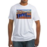 Tinker Field Oklahoma (Front) Fitted T-Shirt