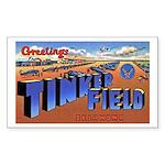 Tinker Field Oklahoma Rectangle Sticker