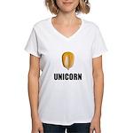 Unicorn Corn Women's V-Neck T-Shirt