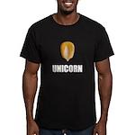Unicorn Corn Men's Fitted T-Shirt (dark)