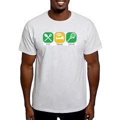 Eat Sleep Serve Ash Grey T-Shirt