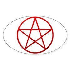Red Pentacle Oval Decal