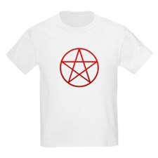 Red Pentacle Kids T-Shirt