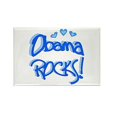 Obama Rocks Rectangle Magnet