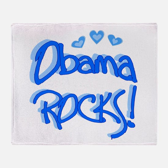 Obama Rocks Throw Blanket