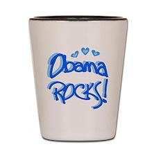 Obama Rocks Shot Glass
