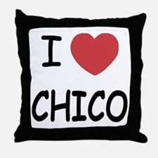 I heart Chico Throw Pillow