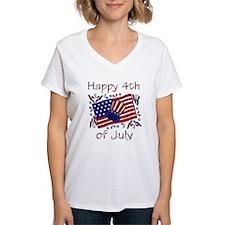 white god bless america flag happy 4th T-Shirt