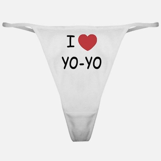 I heart Yo-Yo Classic Thong