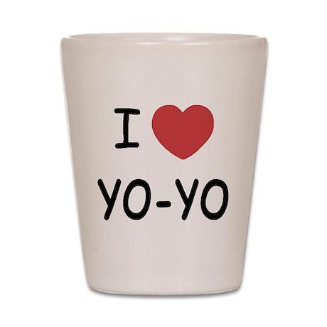 I heart Yo-Yo Shot Glass
