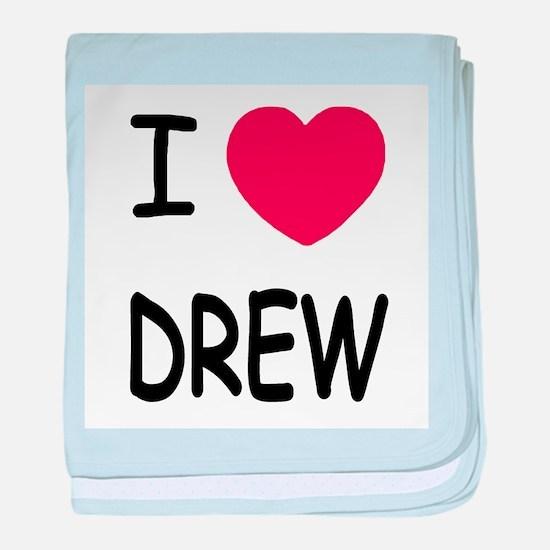 I heart Drew baby blanket