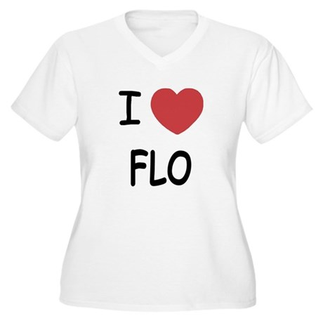 I heart Flo Women's Plus Size V-Neck T-Shirt