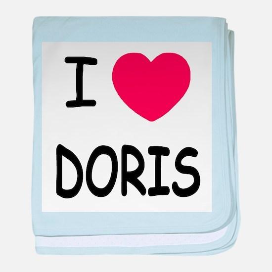 I heart Doris baby blanket