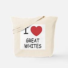 I heart Great Whites Tote Bag