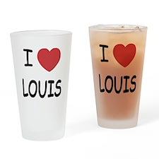 I heart Louis Drinking Glass